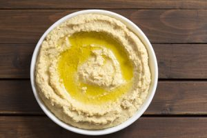 Hummus with Tahini, lemon juice, garlic and olive oil